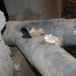 Unblock-A-Rod engineers found the damaged sewer pipe under the house
